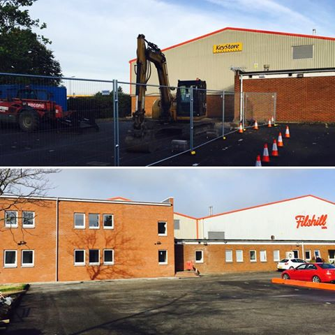 Before and after New office block extension